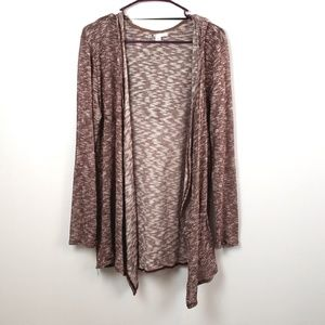 Volcom Burgundy Women's Open Front Cardigan